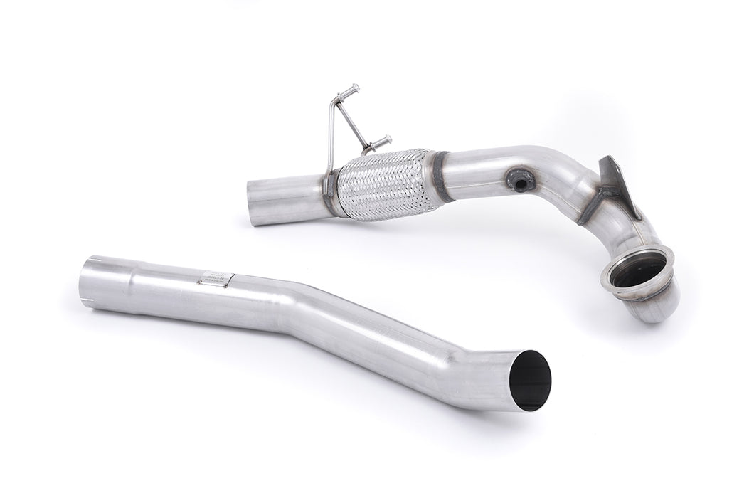 Milltek Exhaust Audi S1 2.0 TFSI quattro  Large-bore Downpipe and De-cat Must be fitted with the Milltek Sport cat-back system and requires a Stage 2 ECU remap.