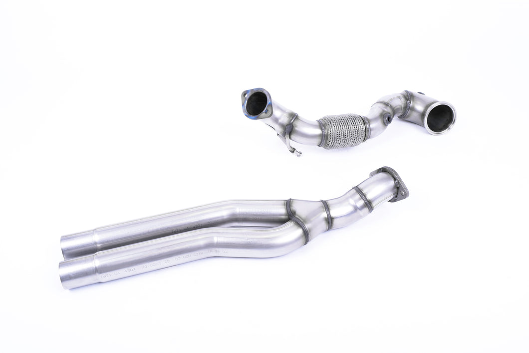 Milltek Exhaust Audi RS3 Sportback 400PS (8V MQB - Facelift Only) - Non-OPF/GPF Models Large-bore Downpipe and De-cat