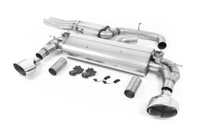 Milltek Exhaust Audi RS3 Saloon / Sedan 400PS (8V MQB) - Non-OPF/GPF Models Cat-back Resonated (EC Approved) with Polished Oval Trims