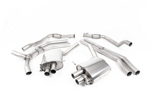 Milltek Exhaust Audi RS5 B9 2.9 V6 Turbo Coupe (Non OPF/GPF Models) Cat Back (Road+) with Titanium Oval Trims
