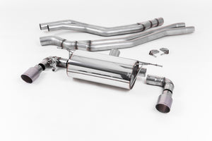 Milltek Exhaust BMW 1 Series M140i 3 & 5 Door (F20 & F21 LCI - Non-OPF models only)  Cat-back Cat Back Race Non-Resonated with Titanium GT-90 Trims