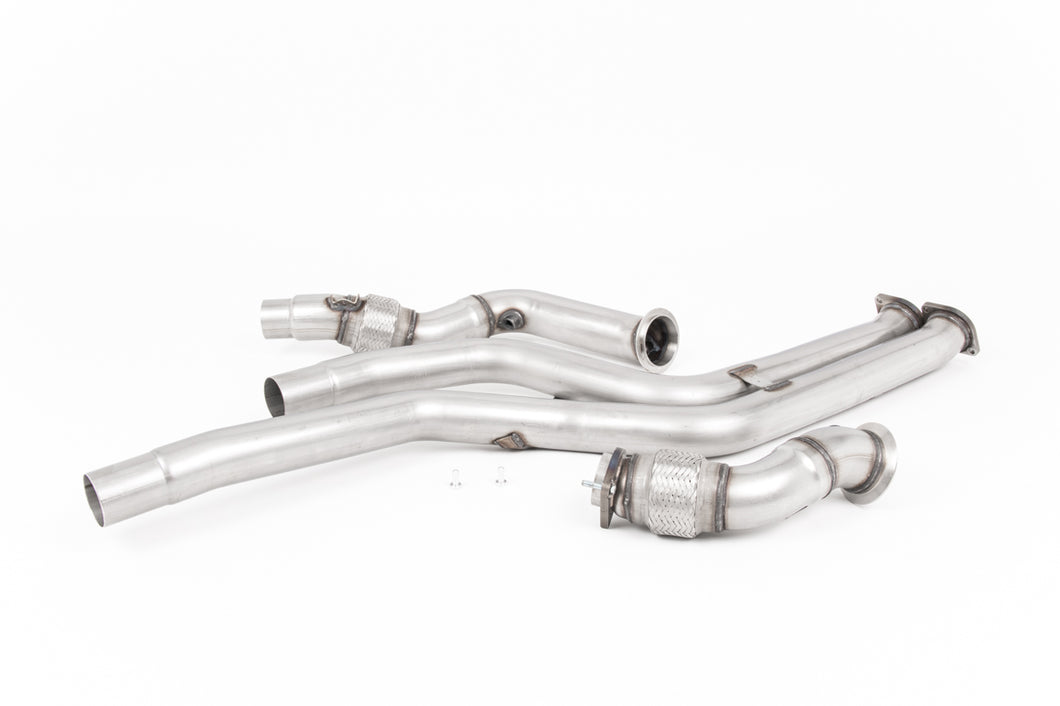 Milltek Exhaust BMW 2 Series F87 M2 Competition Coupe Large-bore Downpipes and Cat Bypass Pipes Removes OE Primary Cats and OPF/GPF's - Requires Stage 2 ECU Software - Must be fitted with Milltek Sport Catback Only