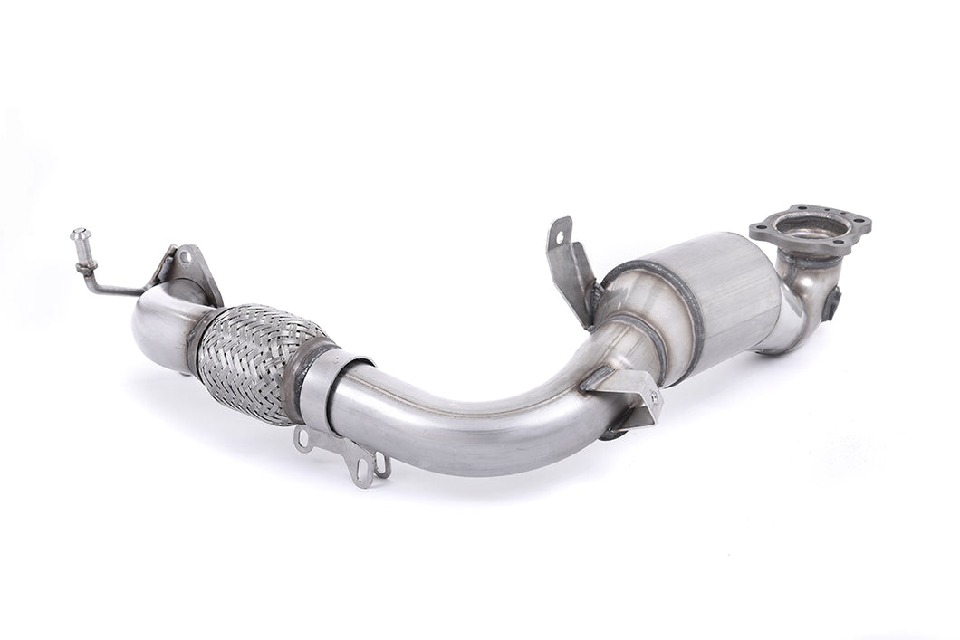 Milltek Exhaust Ford Fiesta Mk7/Mk7.5 1.0T EcoBoost (100/125/140PS)  Large Bore Downpipe and Hi-Flow Sports Cat Requires a Stage 2 ECU remap and must be fitted with the Milltek Sport cat-back system