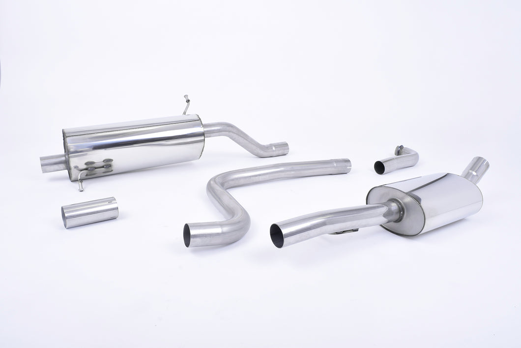Milltek Exhaust Ford Fiesta Mk8 1.0T EcoBoost ST-Line 3 & 5 Door (Non-OPF/GPF Models Only) Cat-back Cat Back with GT-90 Titanium Trim - EC Approved