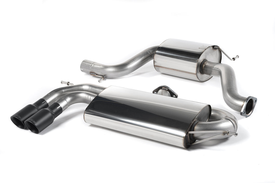 Milltek Exhaust Volkswagen Golf Mk5 GTi 2.0T FSI  Cat-back 3-inch Race System. Resonated (quieter). Cerakote Black Tips