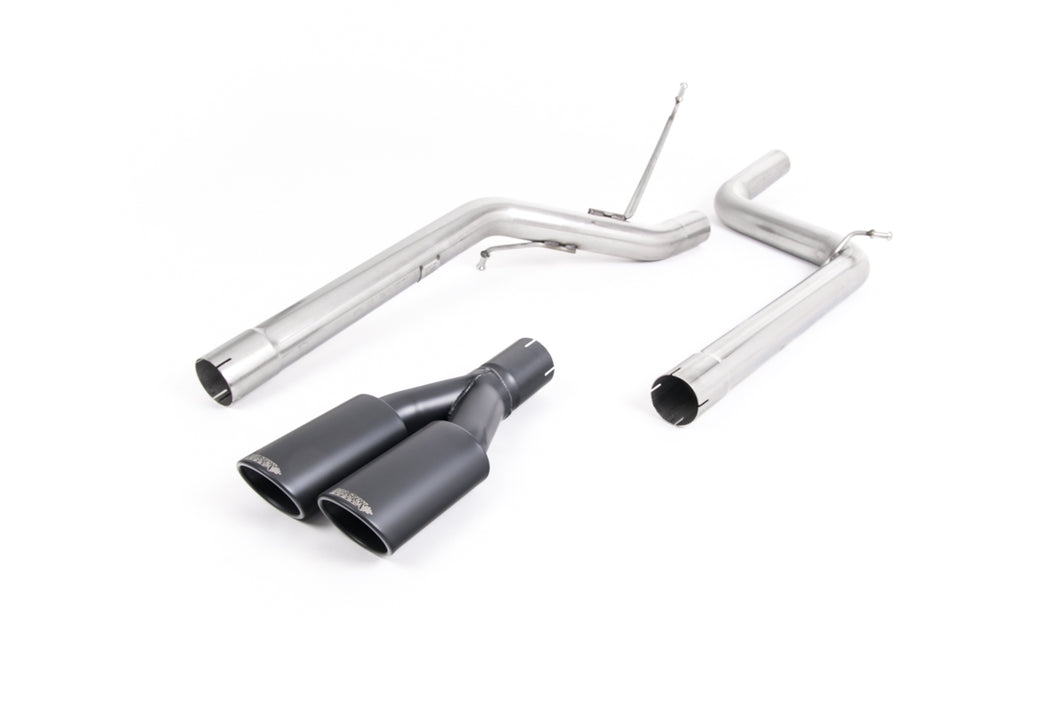 Milltek Exhaust Volkswagen Caddy 2.0TDI 140PS 2WD Manual and DSG (not Maxi models) Particulate Filter-back Non-resonated (louder). Twin Black Velvet Oval Tips