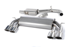 Milltek Exhaust Volkswagen Golf MK7 R 2.0 TSI 300PS Cat-back Non-Valved Race System. Resonated (quieter). Polished Oval Tips