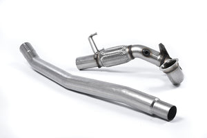 Milltek Exhaust Audi S3 2.0 TFSI quattro 3-Door 8V (Non-GPF Equipped Models Only) Large-bore Downpipe and De-cat For fitment with the OE System Only