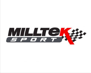 Milltek Exhaust Audi S3 2.0 TFSI quattro Saloon & Cabrio 8V (Non-GPF Equipped Models Only)  Cat-back Non-Valved Race System. Non-resonated (louder). Quad Round Cerakote Black Tips