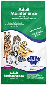 Alpha Adult Maintenance Sporting Dog - 15kg