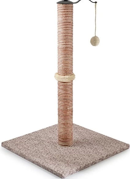Ancol Premo XL Deluxe Scratcher Velvet Base with Toy Ball