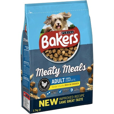 Bakers Meaty Meals Chicken Adult Dry Dog Food - 2.7kg