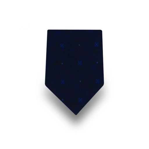 Men's Navy with Blue Pattern Microfiber Tie