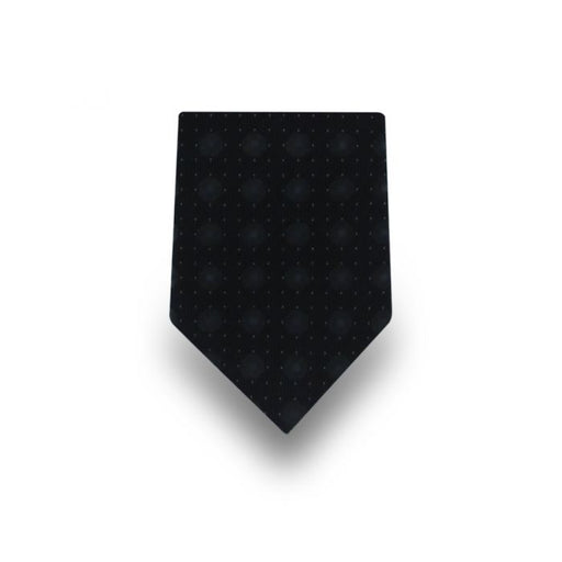 Men's Black with Grey Dots Microfiber Tie