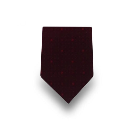 Men's Dark Red Dotted Microfiber Tie