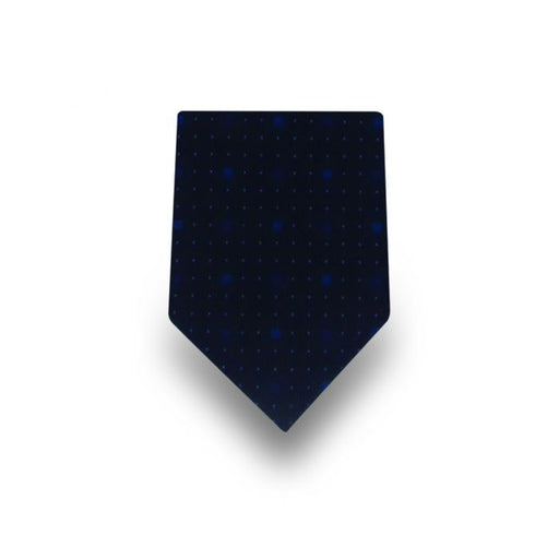 Men's Black with Blue & White Dots Microfiber Tie