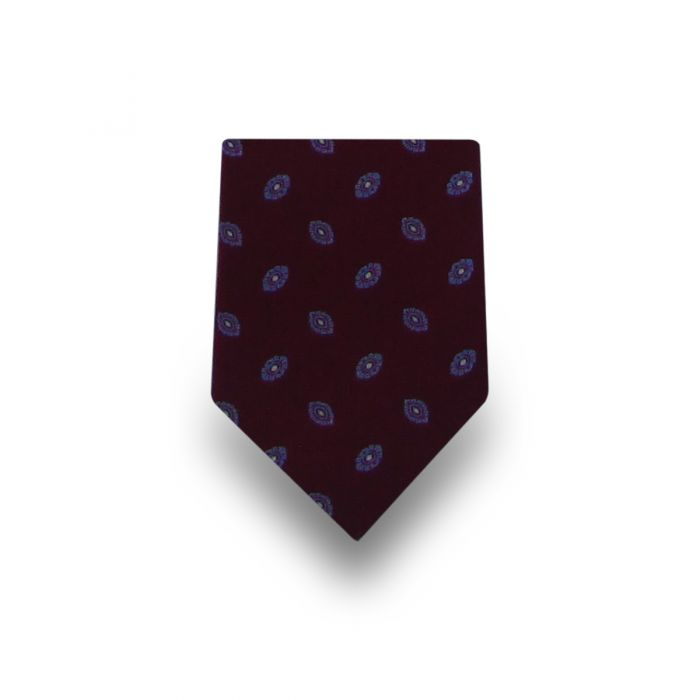 Men's Dark Brown Patterned Microfiber Tie