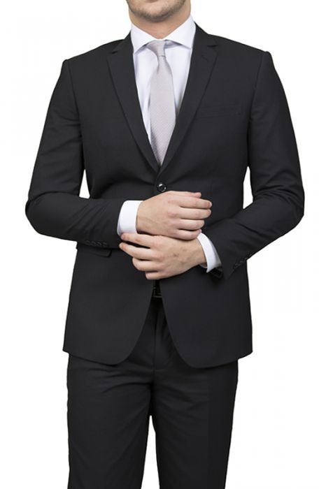 Karako Men Black Slim Fit Suit
