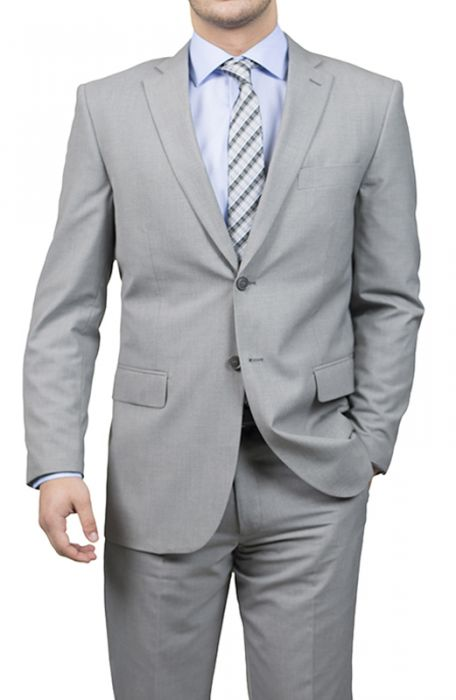 Karako Men Light Grey Modern Fit Suit
