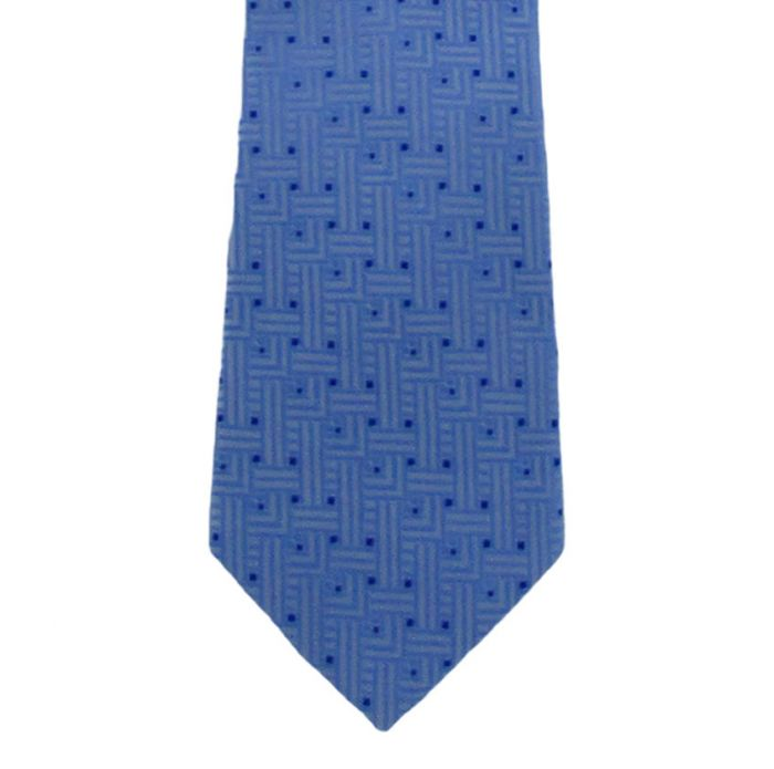 Men's Royal & Blue Navy Patterned Microfiber Tie