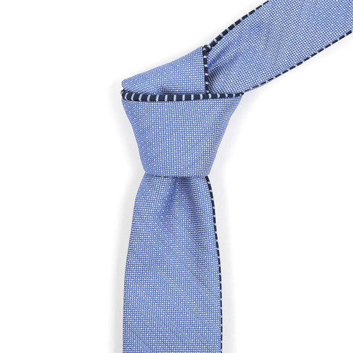 Navy & Powder Blue Striped Reversible Tie