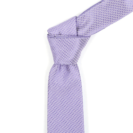 Orchid & Purple Patterned Reversible Tie