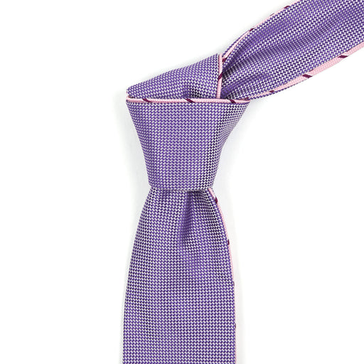 Blush Pink With Red Striped Reversible Tie