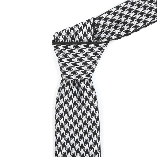 Black & White Patterned Reversible Tie