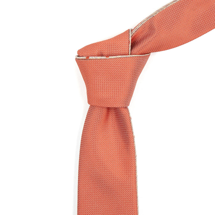 Orange With Polka Dots Reversible Tie