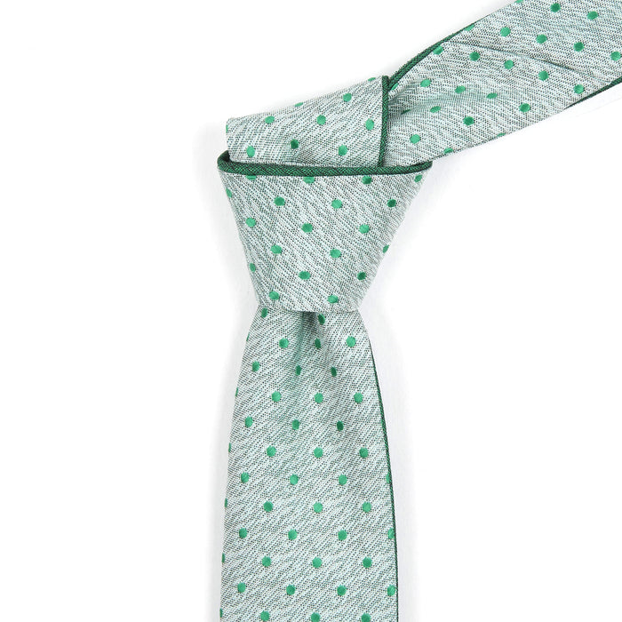 Muted Green Polka Dot Reversible Tie
