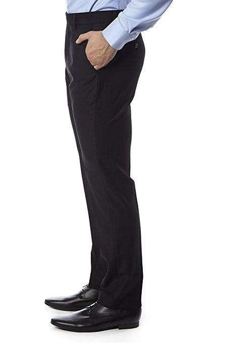 Black Trim Fit Dress Pants