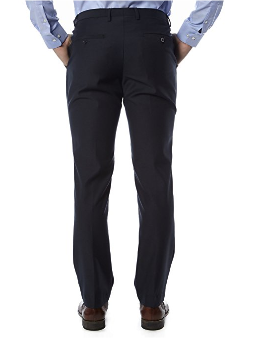 Navy Trim Fit Dress Pants