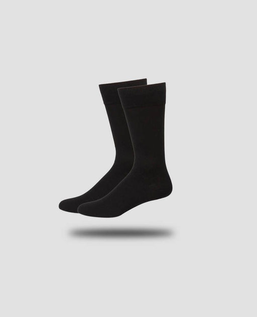 Karako Men Onyx Black Basic Dress Socks