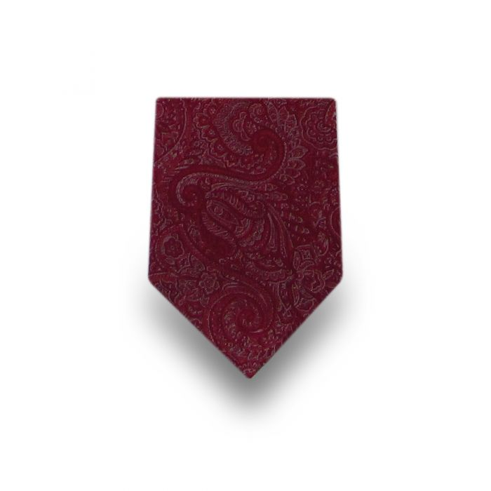 Men's Red Paisley Microfiber Tie