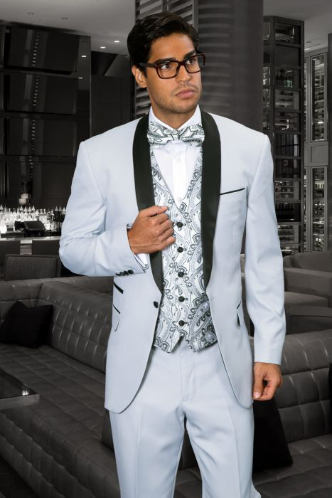 Statement Men's Ash Tuxedo with Black Lapel