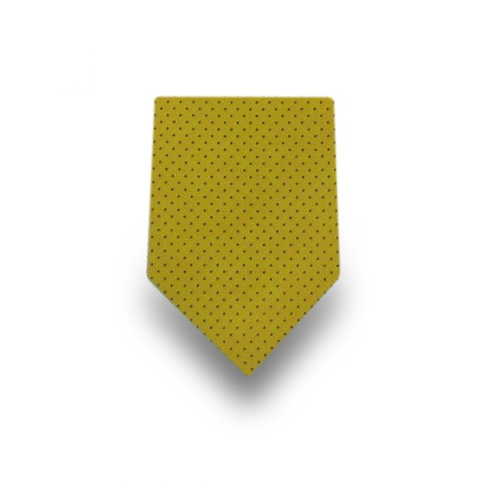 Men's Yellow Micro Dotted Microfiber Tie