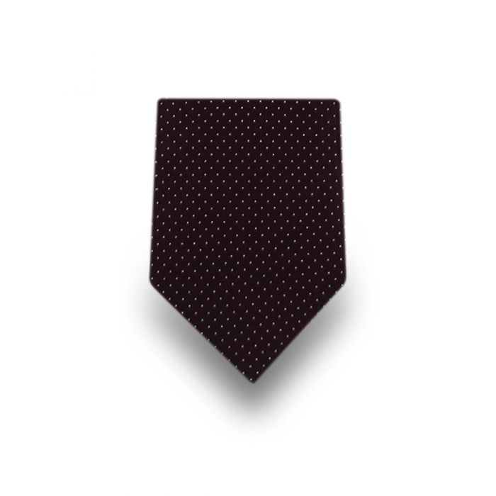 Men's Brown Micro Dotted Microfiber Tie