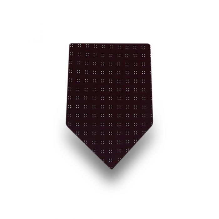 Men's Brown Patterned Microfiber Tie