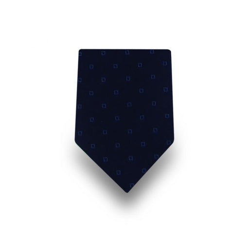 Men's Navy Blue with Blue Squares Microfiber Tie