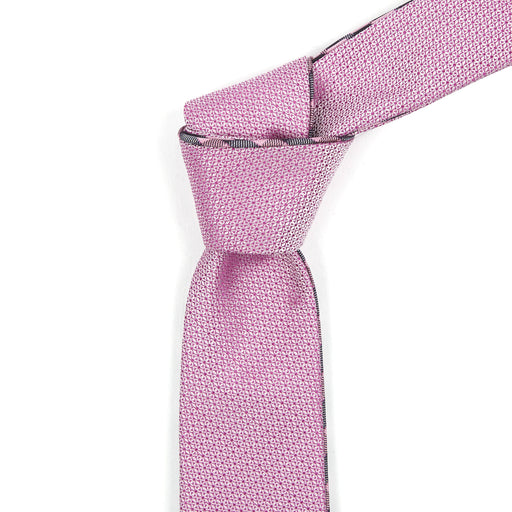 Pink & Black Checkered Reversible Tie