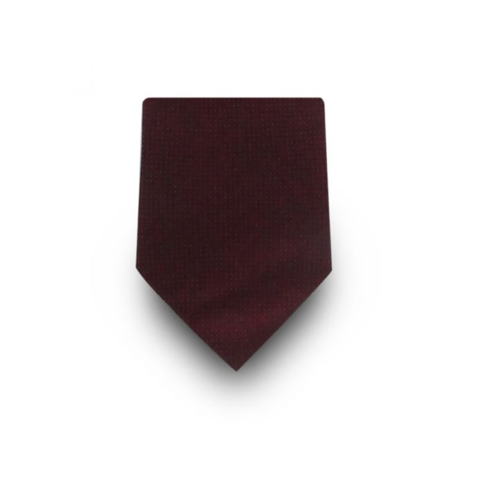 Men's Burgundy Micro Dotted 100% Silk Tie