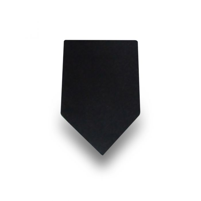 Men's Plain Black 100% Silk Tie