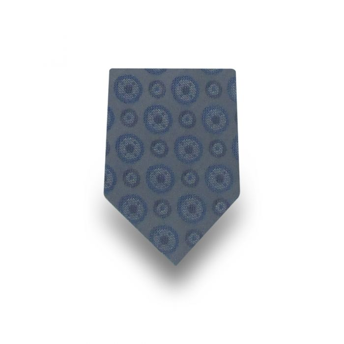 Men's Light Blue Paisley Patterned 100% Silk Tie
