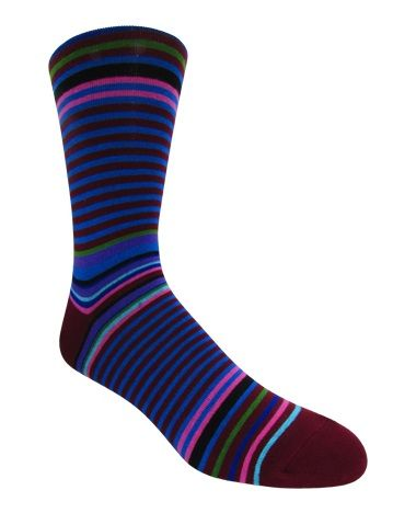Men's Multi-Colored Striped Socks