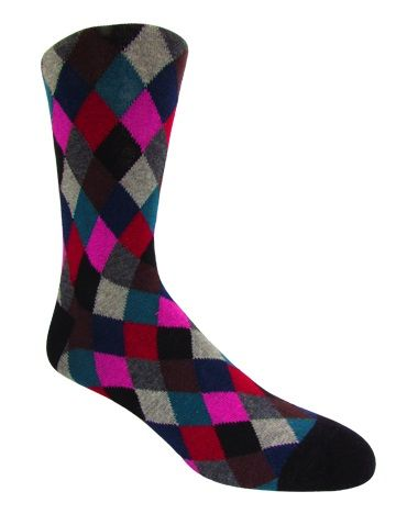 Men's Multi-Colored Checkered Socks
