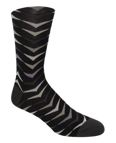 Men's Black Multi-Colored Arrow Patterned Socks