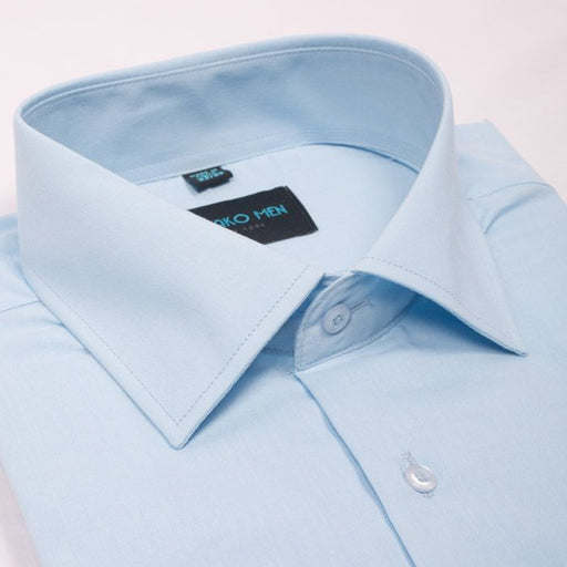 Karako Men Light Blue Modern Fit Dress Shirt