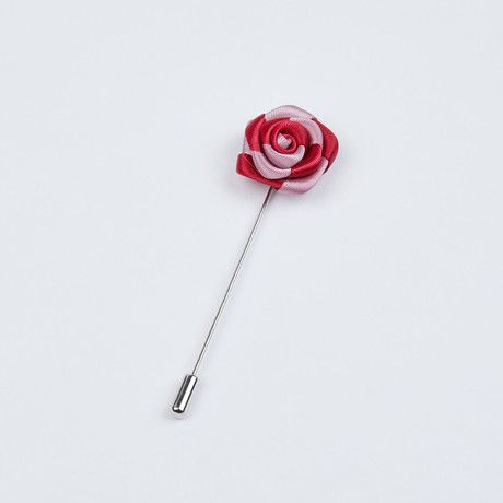 Pink and Red Two-Tone Striped Lapel Pin