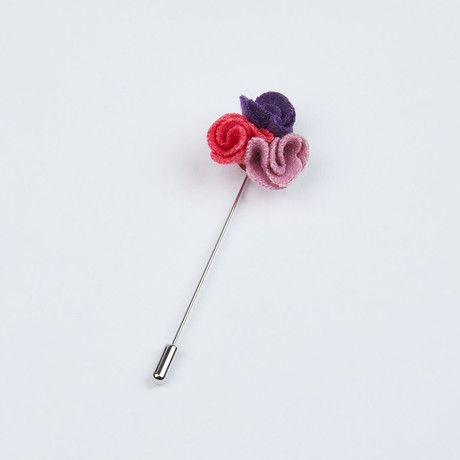 Purple, Fushia and Pink Pedals Lapel Pin