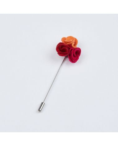 Red, Orange and Fushia Pedals Lapel Pin